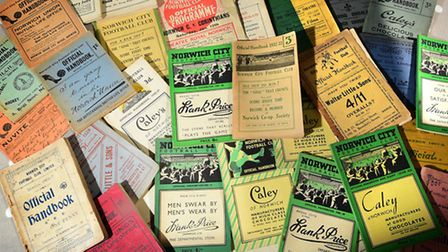 NCFC handbook collection. Picture: ANTONY KELLY