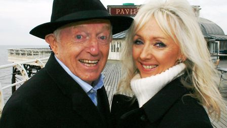 Paul Daniels and wife Debbie McGee in Cromer. Photo: Maurice Gray
