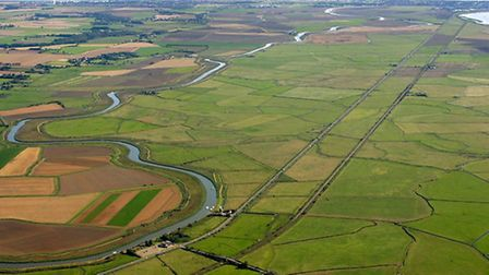 Acle Straight seen from the air. Photo: Mike Page
