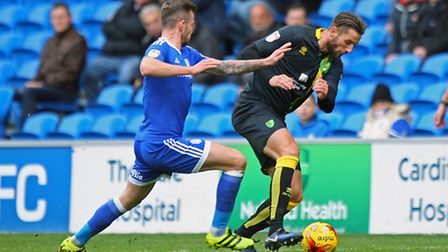 Mitchell Dijks ' debut at Cardiff City drew praise from Norwich City boss Alex Neil. Picture by Pau