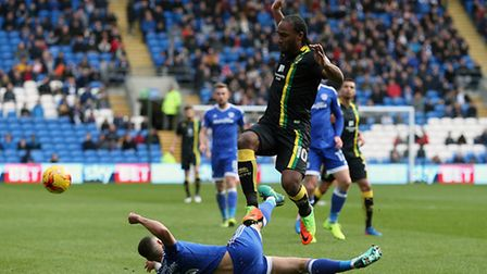 Cameron Jerome notched his third goal in the last four games to sink old club Cardiff City. Picture