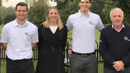 Pictured from left to right at Bawburgh Golf Club are Jonny Howson, Krissy Barnard of the managemen