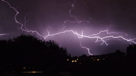 It's not true that lightning never strikes twice... this picture of lightning over Norfolk is by Jer