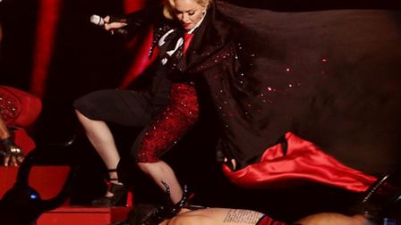Madonna fell on stage while performing at the 2015 Brit Awards. The singer, who carried on with the