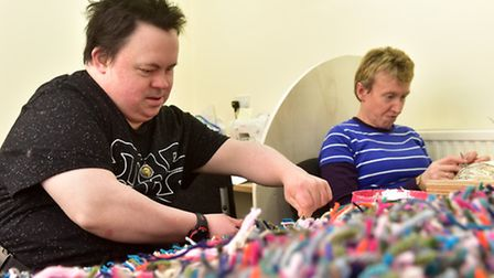 Waveney Enterprises is looking for more service users. Two of the service users. PHOTO: Nick Butcher