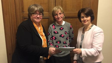 Suffolk Coastal MP Therese Coffey and Southwold Mayor, Melanie Tucker, meeting with Financial Secret