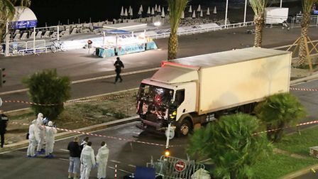 The lorry used in the Nice attack Picture Sasha Goldsmith via AP