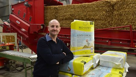 James Foster Clarke from Cherry Tree Farm, Metfield. His company have just launched new products fo
