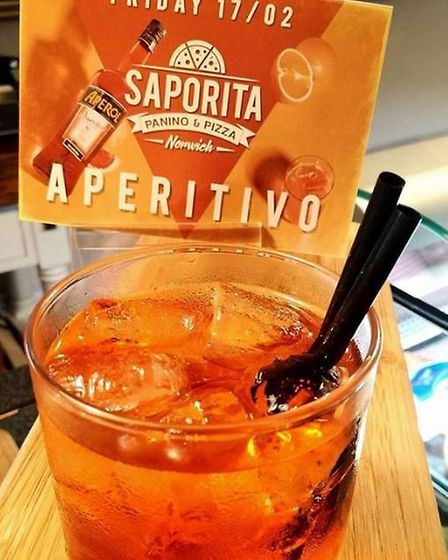 The first Aperitivo will take place on Friday February 17 from 5pm-8pm. Picture: Saporita Norwich