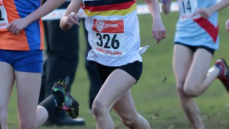 Nelly Porter came second for Norfolk Under-17 girls at the Anglian Schools Cross Country Championshi