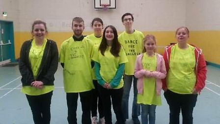 Some of the charity dancers that hotfooted it the the Lichfield Centre on Saturday.