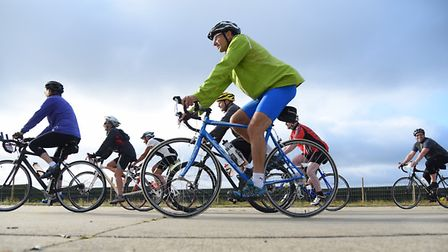 Cyclists take part in last year's Tour De Broads. Picture: DENISE BRADLEY