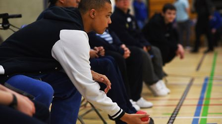 Boccia competition at UEA Sportspark as part of the Eastern Regional Special Olympics. Picture: ANTO