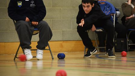 Boccia competition at UEA Sportspark as part of the Eastern Regional Special Olympics.Picture: ANTO