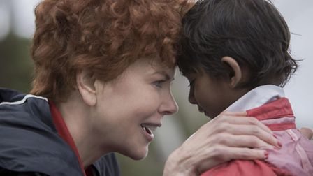 Nicole Kidman as Sue Brierley with Sunny Pawar as younger Saroo Brierley in Lion. Picture: Weinstein