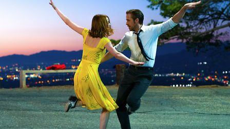 Emma Stone and Ryan Gosling in La La Land, widely tipped for Oscar glory. Picture: Gilbert Films/Dal