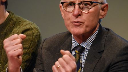 MP Norman Lamb (Liberal Democrat) speaks during the Paston Sixth Form College Question Time. Picture