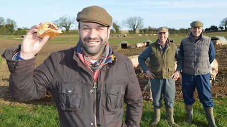 The food chain behind Charlie Hodson's award-winning Nelson sausage roll. Pictured: Charlie Hodson (