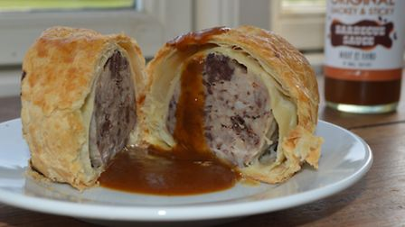 The food chain behind Charlie Hodson's award-winning Nelson sausage roll. Pictured: The sausage roll