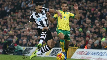 Newcastle defender Jamaal Lascelles grabbed an equaliser against Norwich City. Picture by Paul Chest