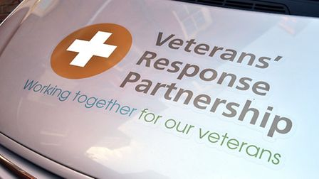 Unveiling of the Veterans' Response Partnership car. Picture: ANTONY KELLY