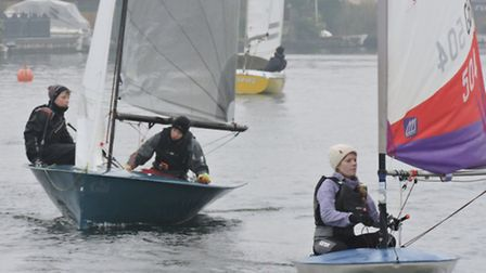 Action from Snowflake Sailing Club last weekend. Picture: SUPPLIED