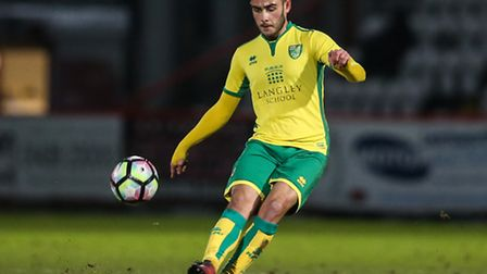 Louis McIntosh scored a hat-trick for City Under-23s at Colney. Picture by Andy Kearns/Focus Images