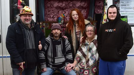 A group of volunteers have set up a mobile soup kitchen that is now operationg in Yarmouth. David C
