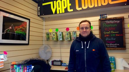 Kenneth Williams, who has run The Vape Lounge for the past three years,