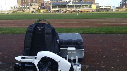Decent weather to do the aerial filming for great Yarmouth football club. Picture: Rory Buttle / Sky