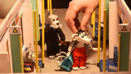Stop motion animator Ian Harding is working on his 4th episode of Zey The Mouse. Picture: Ian Burt