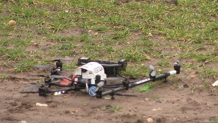 The drone being used for Anglian Water. Picture Mustard TV