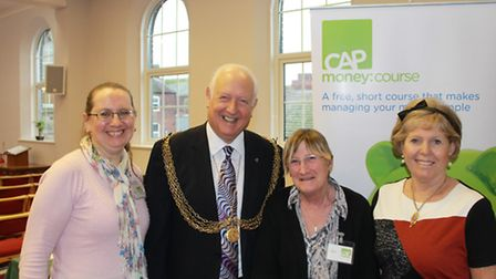 Malcolm Bird and his wife and CAP volunteers.