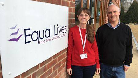 Julie Kemmy and Michael Shanks of Equal Lives. Picture: Archant