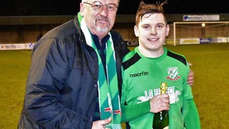 Match sponsor was vice-chairman Mick Payne and he awarded the Batemans man of the match to Kyle Ingr