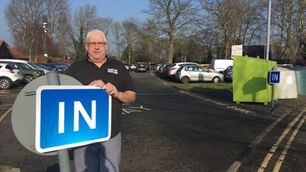 Tim Cobb, bakery owner and town councillor, at Attleborough's Queen's Square Car Park. Picture: STUA