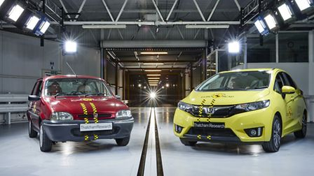 The 20th anniversary crash test between the old Rover 100 and modern Honda Jazz show how the EuroNCA