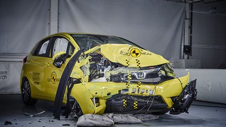 The modern Honda Jazz after the EuroNCAP crash test. Picture: Thatcham Research