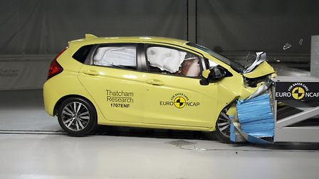 The modern Honda Jazz protects the passengers in the 20th anniversary EuroNCAP comparison crash test