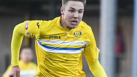 King's Lynn Town's Ryan Hawkins is now on the road to recovery. Picture: Matthew Usher.