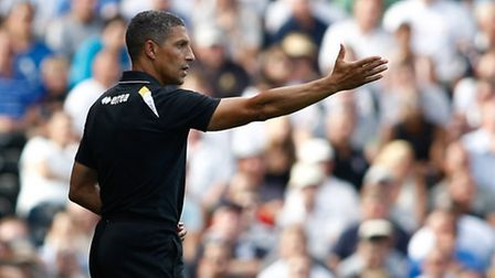 Chris Hughton at Craven Cottage - scene of his opening day disaster.