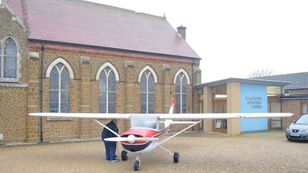 A Cessna aircraft from the Mission Aviation Fellowship, at Hunstanton Methodist Church. Picture: Chr