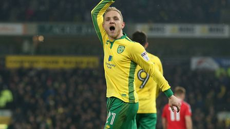 Alex Pritchard turned on the style for Norwich City against Nottingham Forest. Picture: Paul Chester