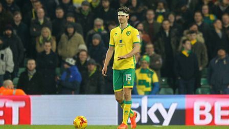 Timm Klose of Norwich in action during the Sky Bet Championship match at Carrow Road, NorwichPictur