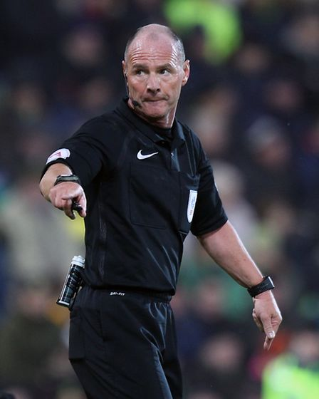 Referee Scott Duncan during the Sky Bet Championship match at Carrow Road, NorwichPicture by Paul C