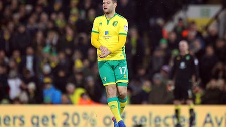 Yanic Wildschut of Norwich during the Sky Bet Championship match at Carrow Road, NorwichPicture by