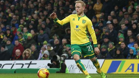 Alex Pritchard of Norwich in action during the Sky Bet Championship match at Carrow Road, NorwichPi
