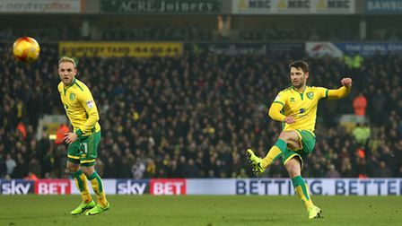 Wes Hoolahan of Norwich in action during the Sky Bet Championship match at Carrow Road, NorwichPict
