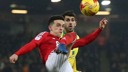 Nelson Oliveira is one of a number of notable Norwich City absentees for the trip to Burton. Pictur