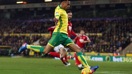 Josh Murphy of Norwich scores his sides 2nd goal during the Sky Bet Championship match at Carrow Roa